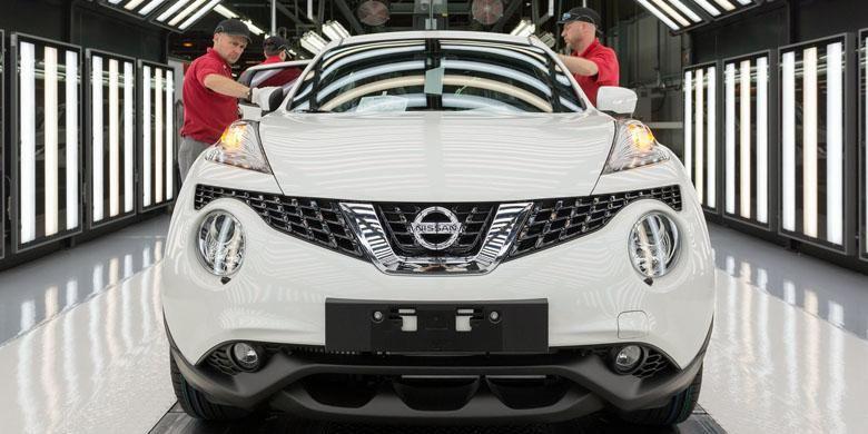 Juke diproduksi di pabrik Nissan di Sunderland, Inggris.