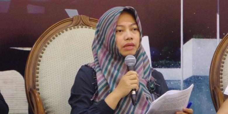 Ketua Perkumpulan untuk Pemilu dan Demokrasi (Perludem), Titi Anggraini di Kompleks Parlemen, Senayan, Jakarta, Kamis (27/10/2016)
