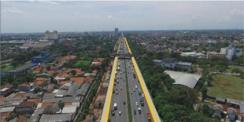 Rencana pelebaran jalan di Tol Jakarta Cikampek dalam rangka pembangunan Jakarta-Cikampek II (Elevated).