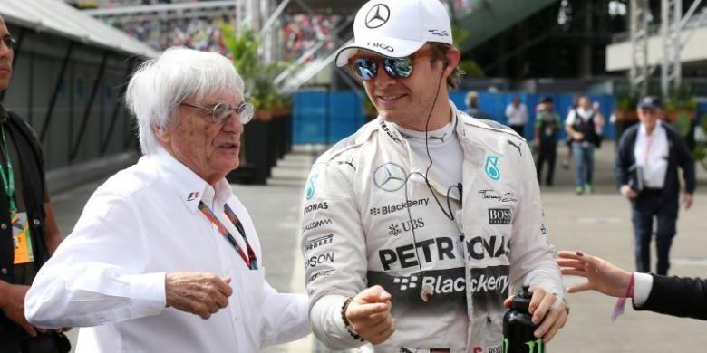 Nico Rosberg bersama bos Formula 1.