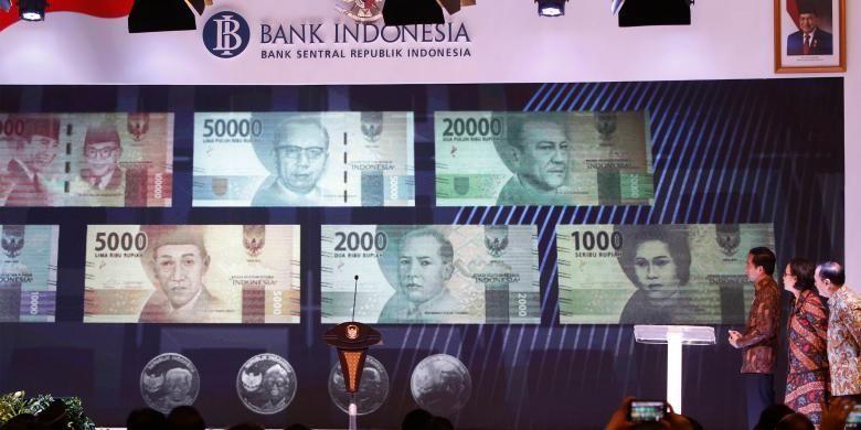 Ilustrasi: Presiden Joko Widodo saat meresmikan peluncuran uang rupiah baru di Gedung Bank Indonesia, Senin (19/12/2016).