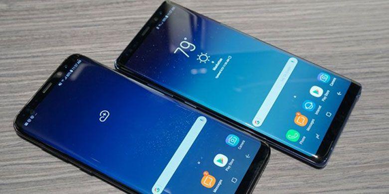 Samsung Galaxy Note8 dengan Infinity Display. (Reska K. Nistanto/KOMPAS.com)