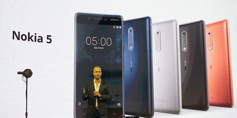 Duo Android Nokia 3 Dan Nokia 5 Diresmikan, Harga Rp 2 Jutaan