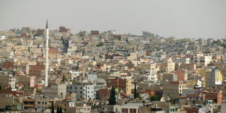 Proyek Kepolisian Suriah Merdeka (FSP) dikelola dari Gaziantep di Turki, dekat perbatasan Suriah. (BBC)