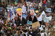 """Trump Disambut Ribuan Demonstran di """"Lubang Neraka"""""""