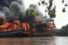 Sulit Dipadamkan, Kebakaran Kapal di Juwana Berlangsung Lama