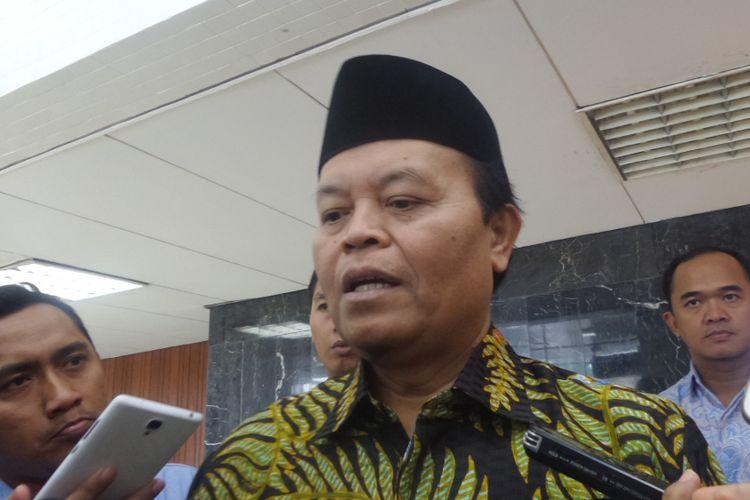 Wakil Ketua Majelis Syuro PKS Hidayat Nur Wahid di Kompleks Parlemen, Senayan, Jakarta, Jumat (21/7/2017).