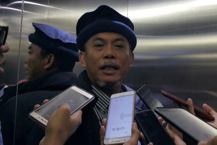 Ketua DPRD DKI Jakarta Prasetio Edi Marsudi di Gedung DPRD DKI Jakarta, Jalan Kebon Sirih, Jakarta Pusat, Kamis (12/10/2017).