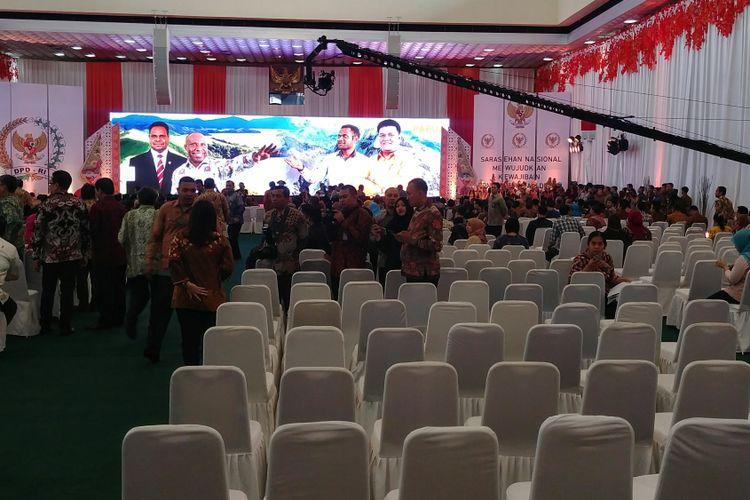 Sepinya Acara DPD Saat Jokowi Tiba