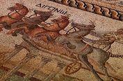 Mosaik Romawi Langka Bergambar Balapan Kuda Ditemukan