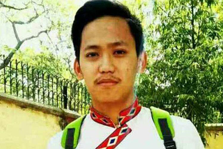 Mahasiswa asal Tibet Tenzin Choeying yang membakar diri di i Central University for Tibetan Studies di Varanasi di negara bagian Uttar Pradesh, India, Jumat (14/7/2017).