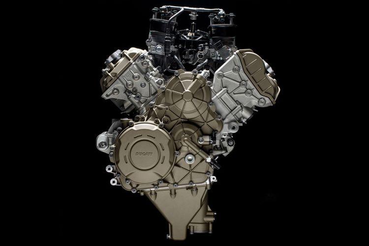 Mesin Ducati V4 Stradale, siap digunakan pertama kali untuk Panigale, akan meluncur di EICMA, Milan, 2017.