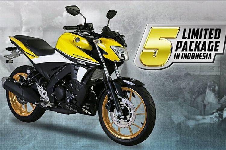 Yamaha V-Ixion R warna kuning, edisi terbatas cuma lima unit.