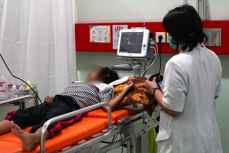 Seorang pasien leukemia yang dirawat di RS Cipto Mangunkusumo Jakarta.