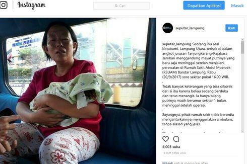 Kemenkes Diminta Telusuri Kasus Ibu Gendong Jenazah Bayi dengan Menaiki Angkot