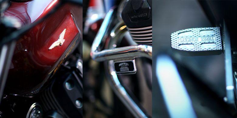 Detail kustom ringan yang membuat tampilan Moto Guzzi makin spesial