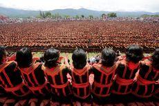 Berita Foto: Megahnya Tari Saman Kolosal di Gayo Lues