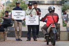 Koalisi Pejalan Kaki Dikecam PKL Saat Gelar Aksi di Tanah Abang