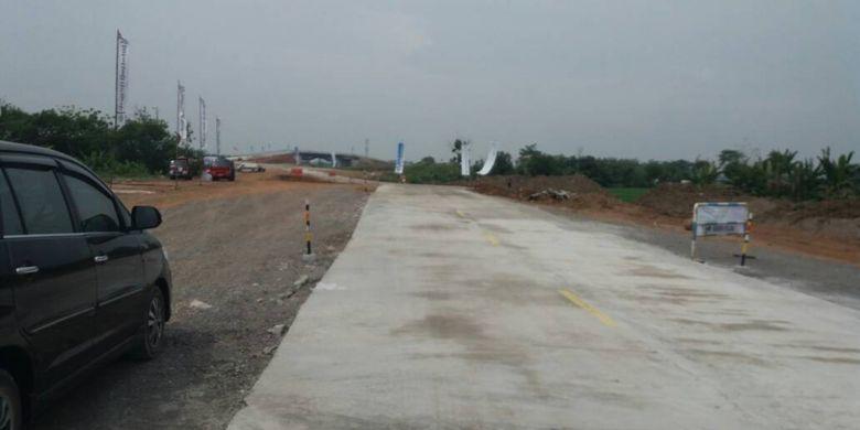 Exit Tol Beji dalam Jalan Tol Pejagan-Pemalang di Pemalang