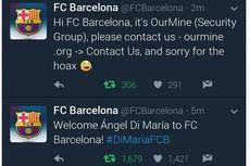 Twitter Barcelona Diretas, Muncul Kabar Di Maria Bergabung