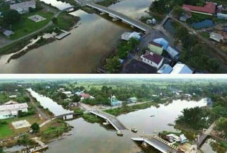 Dibangun Tahun 2015, Jembatan Rp 17 Miliar di Kalimantan Selatan Ambruk