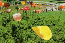 Berita Foto: Unik nan Cantik, Taman Ini Dipenuhi Bunga-bunga Kaca