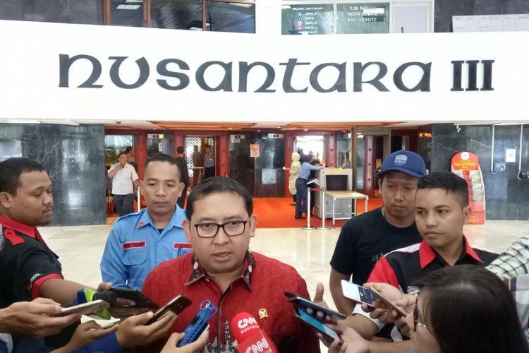 Wakil Ketua DPR Fadli Zon di Kompleks Parlemen, Senayan, Jakarta, Senin (25/9/2017)