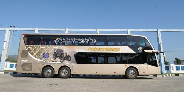 Bus tingkat antar kota antar provinsi dari Dok. PT Putera Mulya Sejahtera.