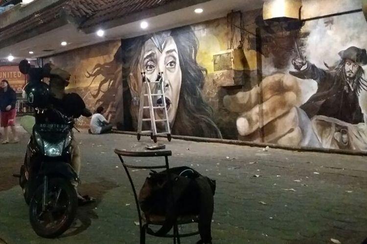 Mural Menteri Kelautan dan Perikanan Susi Pudjiastuti di Solo