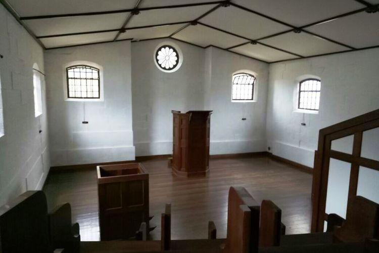 Beginilah situasi gereja di Separate Prison yang wajib dikunjungi narapidana sebanyak empat kali dalam sepekan.