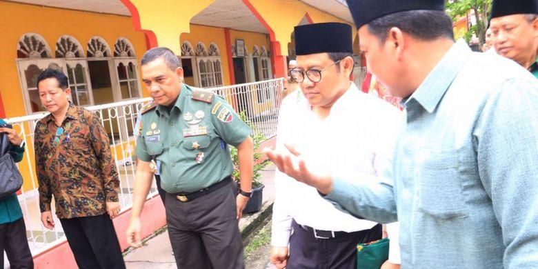Ketua DPP PKB Muhaimin Iskandar atau Cak Imin saat menghadiri kuliah umum di Universitas Islam Negeri (UIN) Sultan Syarif Kasim, Riau, Selasa (14/11/2017).