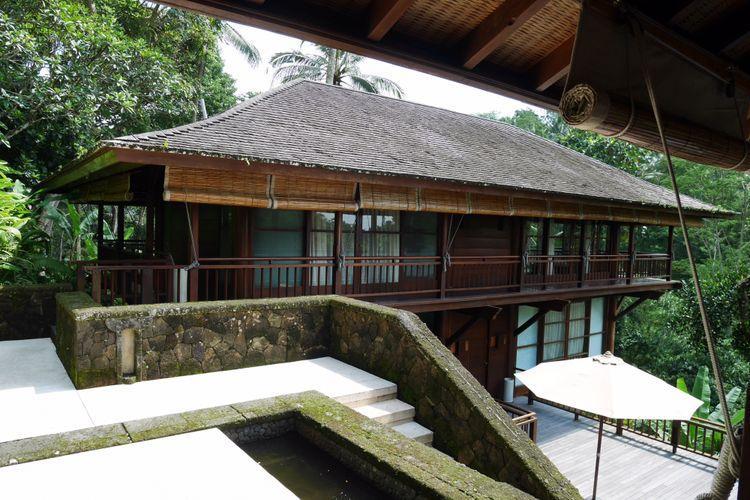 Kamar terrace suite, residence tirta ening di Como Shambhala estate, Bali, Jumat (15/12/2017).