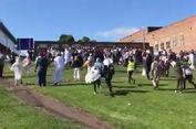 Sebuah Mobil Tabraki Umat Muslim Usai Shalat Id di Newcastle