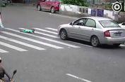 Video Bayi Jatuh dari Becak, Nyaris Hancur Dilindas Mobil, Jadi Viral