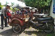 Beroperasi di Kawasan Borobudur, 10 Bentor Diamankan Polisi