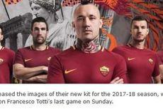 Roma Luncurkan Kostum Baru untuk Laga Terakhir Totti
