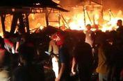 20 Kios di Pasar Gusher Tarakan Ludes Terbakar