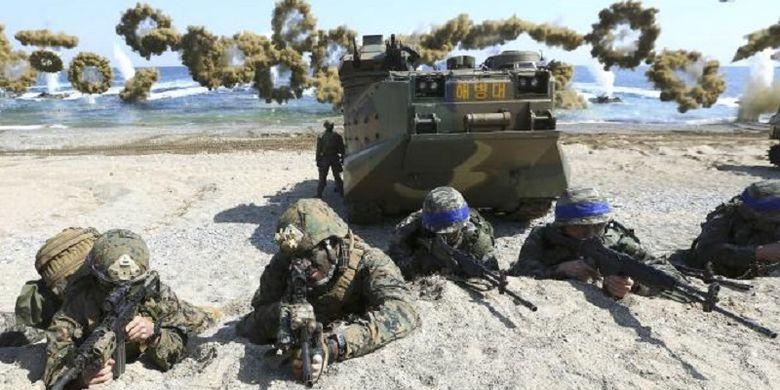 Pasukan AS dan Korsel mengadakan latihan bersama tahun lalu. (Foto: Dok)