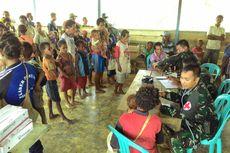 Perjuangan TNI Perbatasan Gelar Pengobatan Massal di Daerah Terpencil Papua