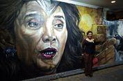 Menteri Susi Jadikan Lukisan Mural Wajahnya Sebagai Tambahan Motivasi