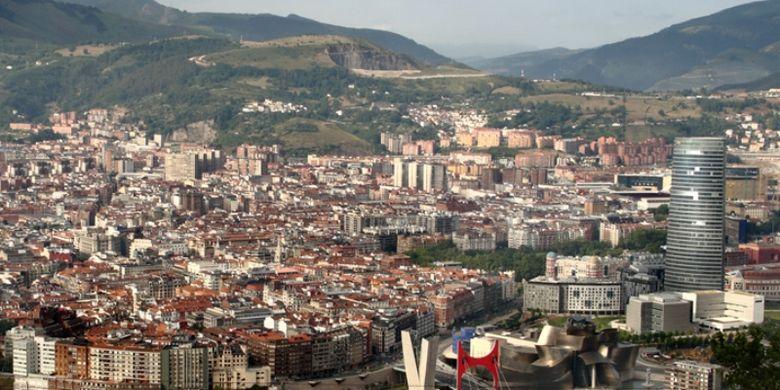Bilbao, kota terbesar di wilayah Basque, Spanyol.
