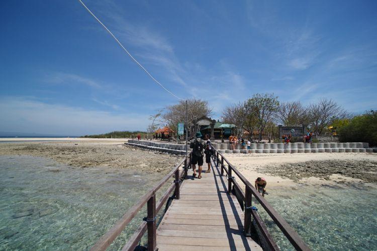 Pulau Menjangan di Taman Nasional Bali Barat, Kabupaten Jembrana, Bali.