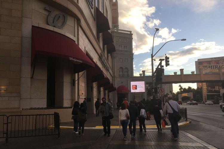 Salah satu toko Walgreens yang dapat ditemukan di Las Vegas Boulevard, Las Vegas, Nevada, Amerika Serikat. Gambar diambil pada Rabu (29/11/2017) waktu setempat.