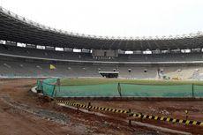 Persiapan Venue Asian Games 2018, Rumput di GBK Mulai Tumbuh
