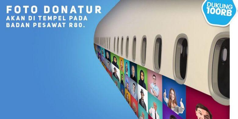 Dengan Rp 100 Ribu Wajah Kita Bisa Nampang di Pesawat Rancangan Habibie