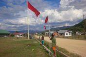 Cinta NKRI, Warga Perbatasan Kibarkan 2.400 Bendera Merah Putih