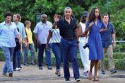 Cerita Obama Asyik Diskusi dengan Putri Sulungnya di Candi Prambanan