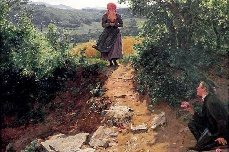 Lukisan berjudul The Expected One karya Ferdinand George Waldmuller yang dibuat pada 1850-an.