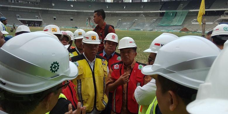 Jusuf Kalla Apresiasi Pengerjaan Sarana Pertandingan Asian Games 2018