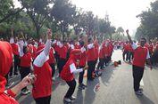 Djarot Sambut Parade RPTRA di Depan Balai Kota DKI